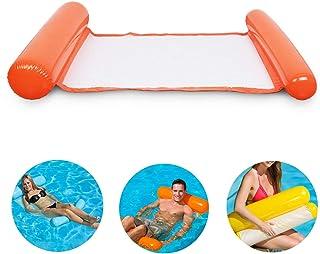 Silla Inflable de flotación de la Silla de la balsa de la balsa del reclinable de la Hamaca de la Cama de la Hamaca del Flotador del Agua para el Partido de la Piscina de la Playa (Naranja)