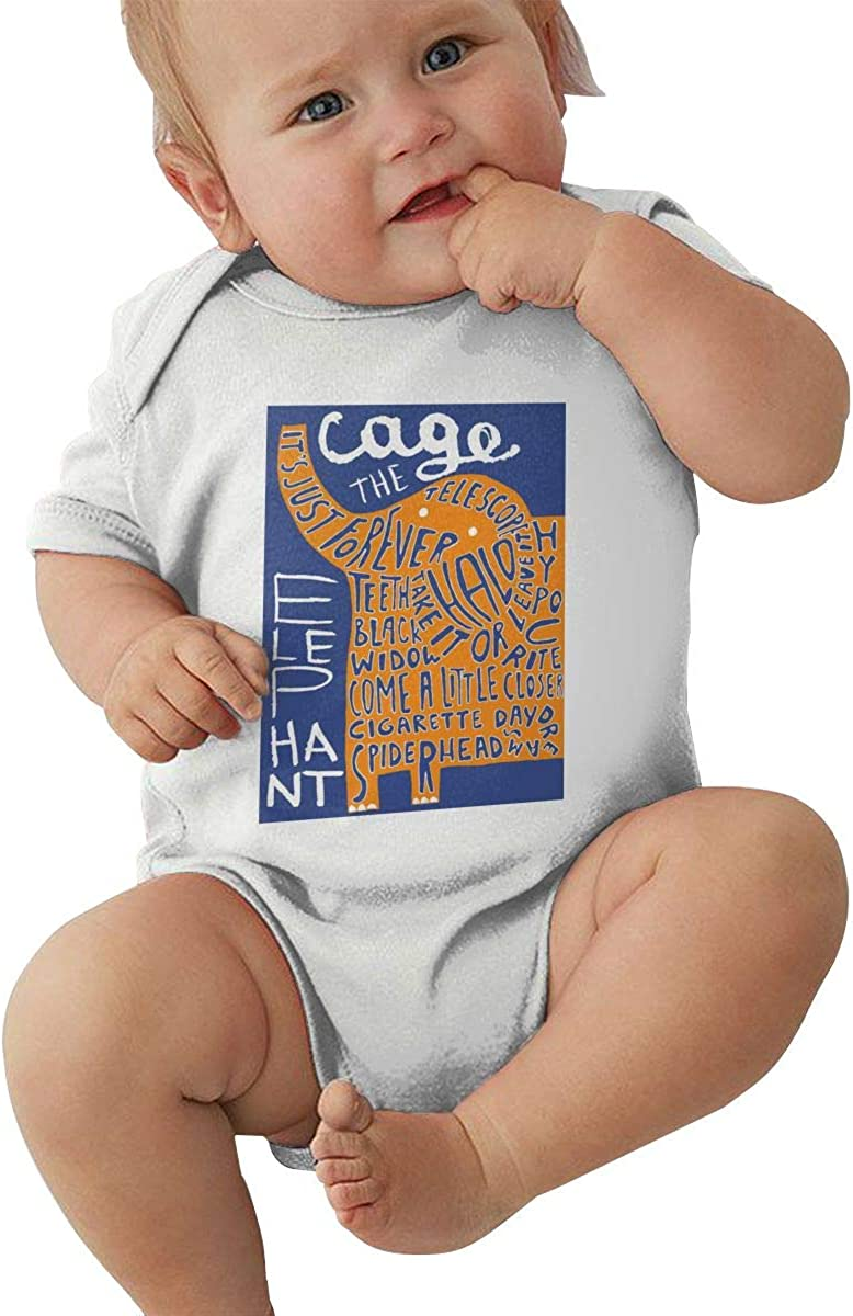 XiteSima Cage The Elephant Melophobia Baby Outfits Coveralls Bodysuit Jumpsuit Short Sleeved Infant Short Sleeve Soft Black