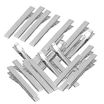 50 Stück Metall Krokodil Alligator Haarspange Barrette Abteilklammern