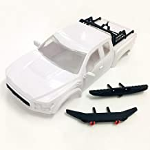 KYX Racing TRX-4 ABS Ford Raptor Hard Body & Front Rear Bumper & Spare Tire Rack 325mm Truck Body Shell White