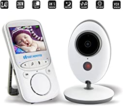 Adventurers 2018 Wireless Digital Video Camera Baby Monitor Built In Lullaby,Vox Funtion,Two Way Audio&Night Vision