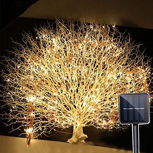 Lámpara de jardín exterior 2 m x 10 200 LED Solar Vines Branch LED String hada luz exterior jardín valla árbol árbol árbol luz luz luz hada