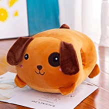XFY Plush Toys Warm Hands Multi Function Warm Hands Pillow Children Plush Cartoon Pillow, Brown one Eyed Dog, 12.6 11 7.9 in