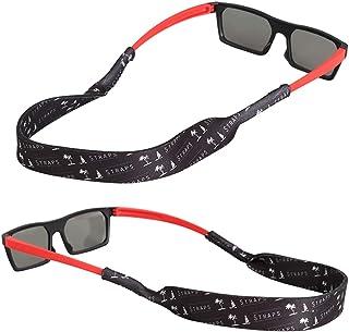 f6f03c5138 FTALGS Correa de Gafas de Sol [2 Paquetes] Cómodo y Suave Cuerda de Gafas