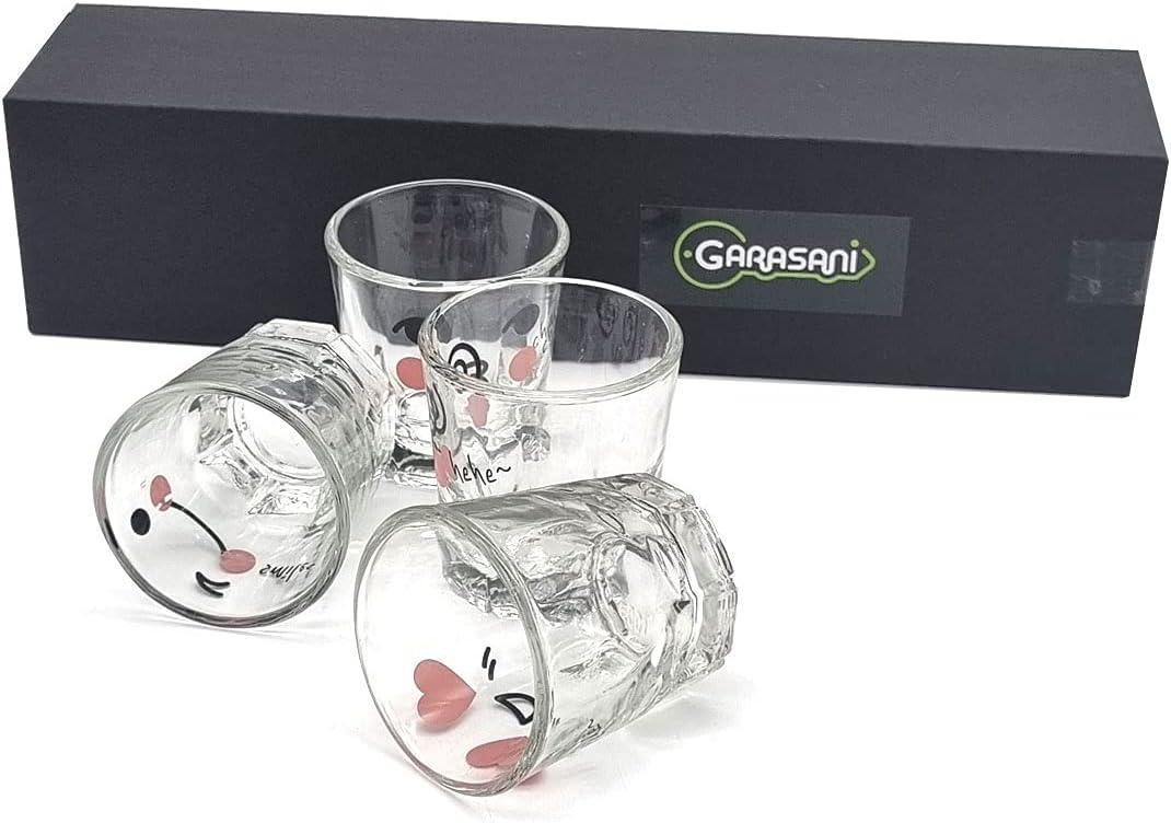 GARASANI Super beauty product restock quality top Korean Funny characters Soju Shot K oz 1.7 Glasses Manufacturer OFFicial shop Set