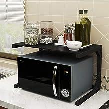 HLJ Tallero de horno de microondas, parrilla de cocina en horno, marco de acero de metal de carbono de vidrio templado, A-60 cm (Color : A, Size : 55cm)