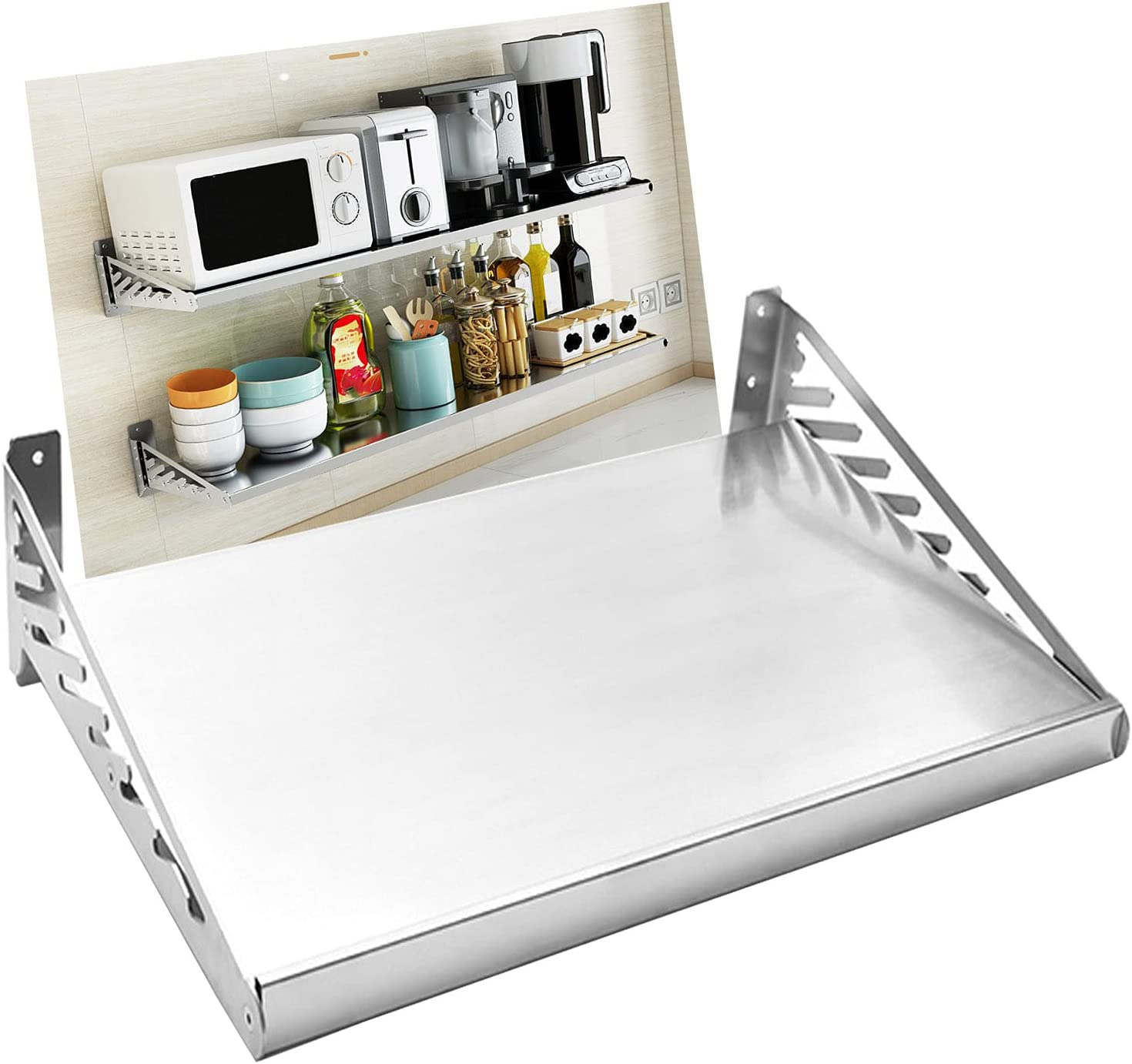 304Stainless Steel Microwave Max 60% OFF Oven Kitchen Limited price sale Baker's Met Rack