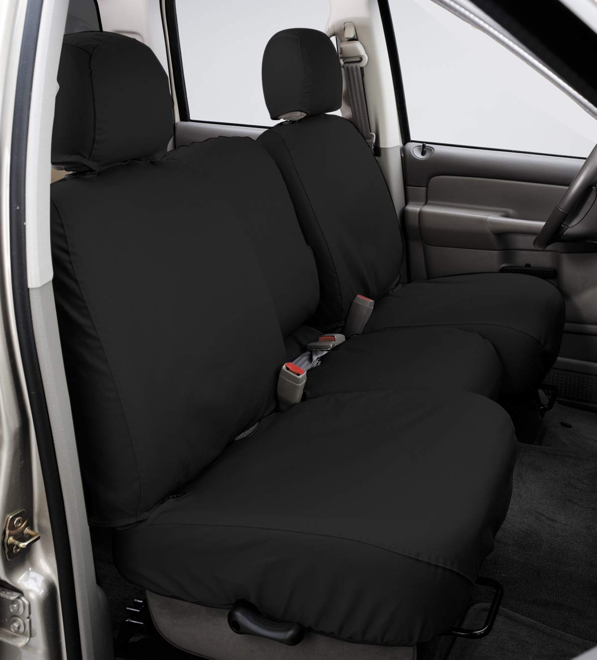 Covercraft SS7432PCCH SeatSaver Second Row Custom Fit Seat Cover for Select Ram 1500 Models Charcoal Polycotton