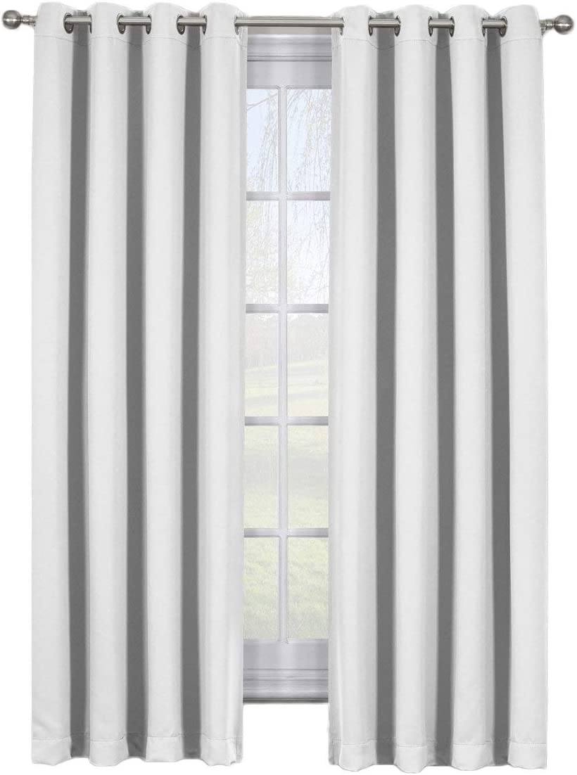 Clearance SALE Limited time Ava Grayish-White Curtains Max 88% OFF Top Grommet Weave Blackout Triple B