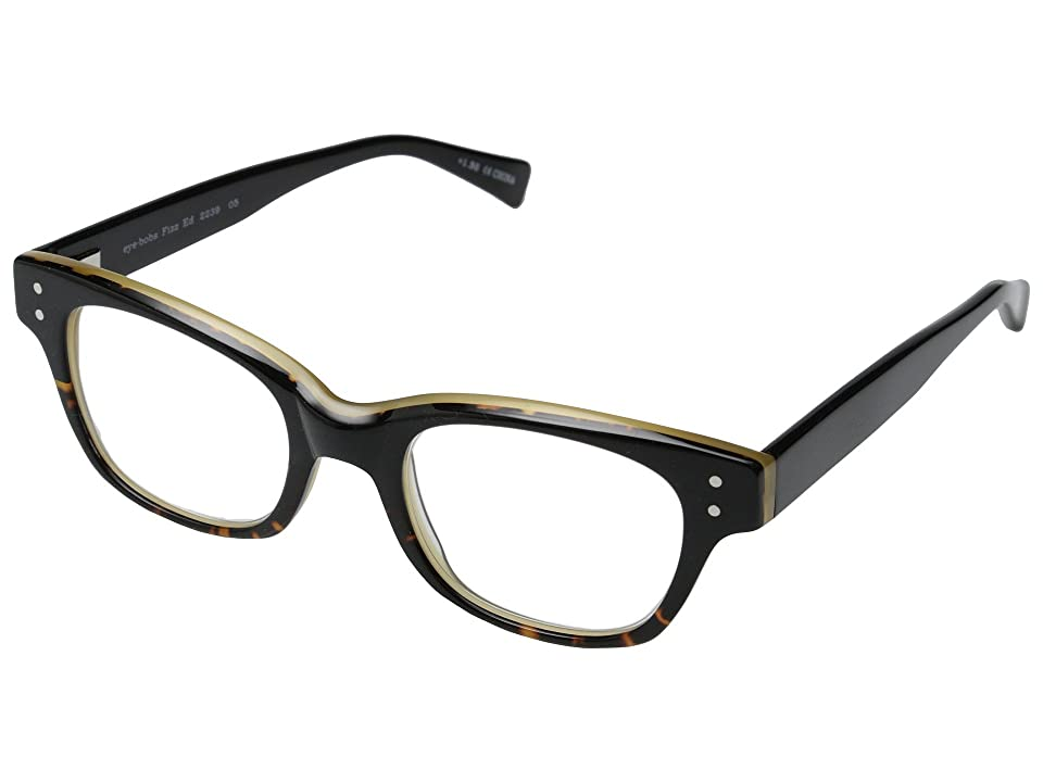 eyebobs Fizz ED (Demi Torte/Black) Reading Glasses Sunglasses