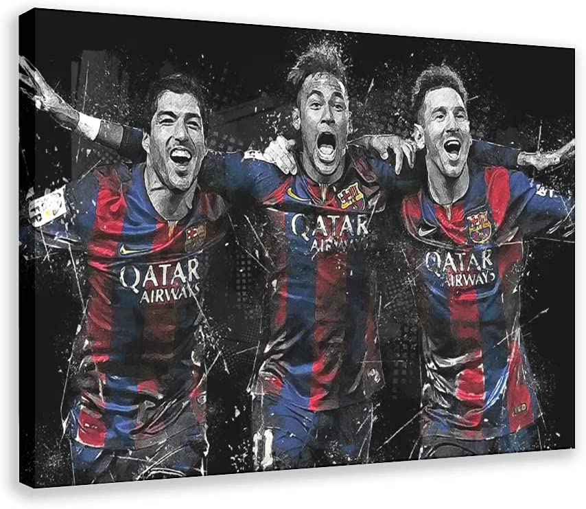 sold out security Footballer Messi Suarez Neymar Great Poster Football Sports Star