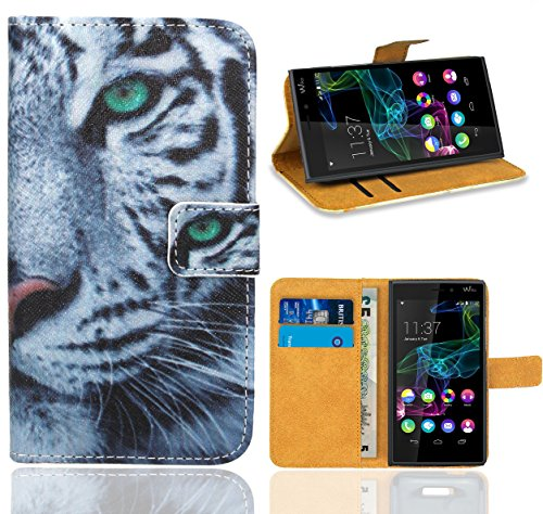 Wiko Ridge 4G Handy Tasche, FoneExpert Wallet Hülle Flip Cover Hüllen Etui Ledertasche Lederhülle Premium Schutzhülle für Wiko Ridge 4G