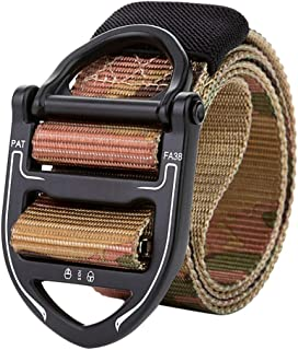 Stoota Tactical Military Canvas Belt, Webbing Waist Belt with Heavy-Duty Quick-Release Buckle