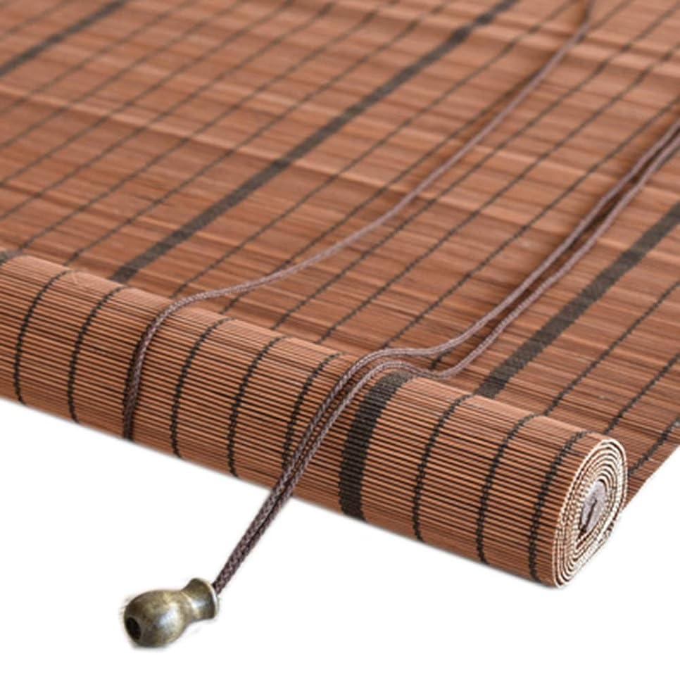 不良品健全コンベンションウッドブラインド すだれ 竹カーテン 光透過/日よけ 仕切り 天井/壁への取り付け カスタマイズ可能,Coutside,W80*H180CM