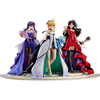 「Fate/stay night」 ~15th Celebration Project~ セイバー 遠坂凛 間桐桜 ~15th Celebration Dress Ver.~ Premium Box 1/7スケール ABS&PVC製 塗装済み完成品フィギュア