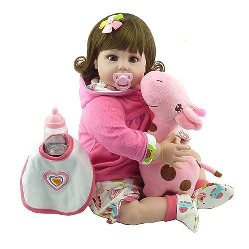 Domybest Muñeca Bebé Renacida Linda del Silicón de la Moda Juguete Regalo 55CM para Muchachas (