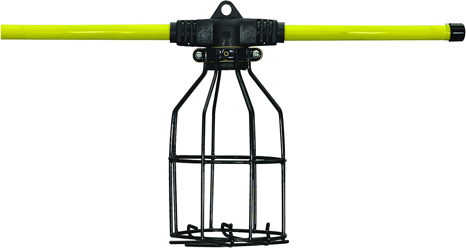 Hang A Light 11109050 String Lights 50 Ft Metal Cages 12 3 Stw Cord No Bulbs 50 Foot Yellow