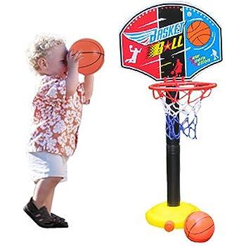 Mobile Basketball Stands Portable Basketball Hoop Stand Adjustable Height Basketball Hoop Stand Basketball Set for Kids Indoor /& Outdoor
