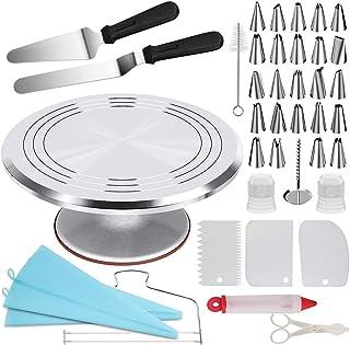 Abimars Ensemble de Accessoires de Fabrication de Gâteau de Plaque Tournante de 12 pouces en Alliage d'aluminium pour Glaç...