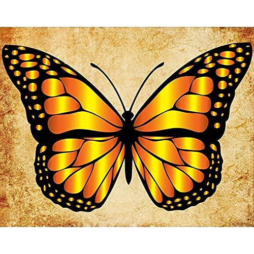 5D DIY diamante pintura mariposa diamante bordado mosaico imagen punto de cruz mano conjunto Animal patrón A9 50x70cm