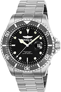 Invicta Men's Pro Diver Quartz Watch with Stainless Steel Strap, Silver, 22 (Model: 25715)