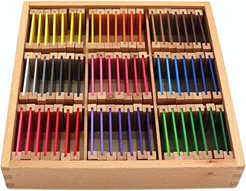 STOBOK Enfants Blocs Construction en Bois Blocs Bois Montessori Couleur Jouet cognitif Jouet éducatif préscolaire (Grande Taille)