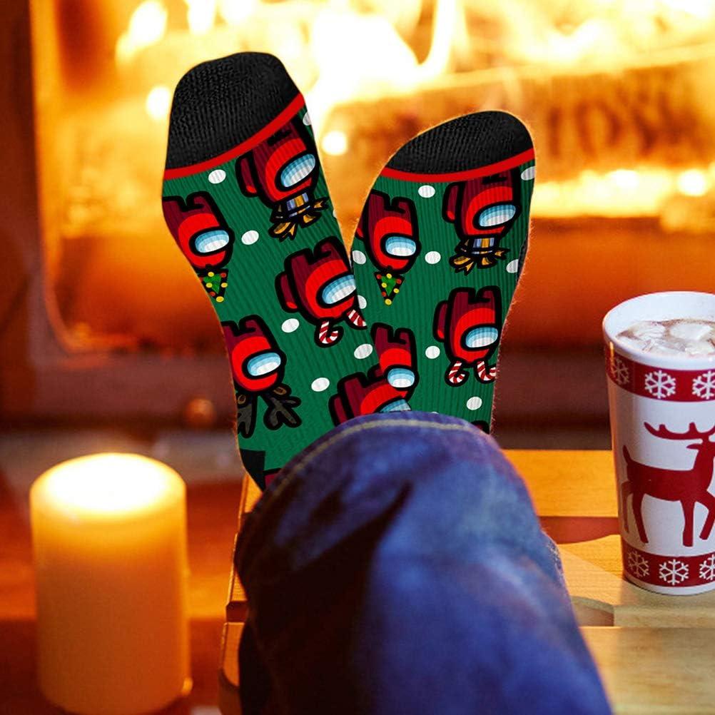 YIPUTONG Among Us Calcetines Coloridos Calcetines de Personajes de Anime Calcetines de algod/ón con Personalidad de Dibujos Animados Calcetines de Navidad Regalos Unisex para ni/ños y ni/ñas