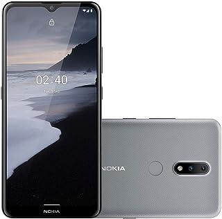 Smartphone Nokia 2.4 64GB 3GB RAM Tela de 6,5 Pol. Câmera Traseira 13MP + 2MP Cinza - NK015