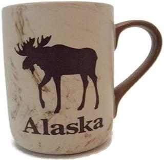 Alaska Moose Faux Marble 12 oz. Coffee Mug