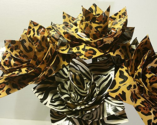 Animal Print Duct Tape Flower Bouquet