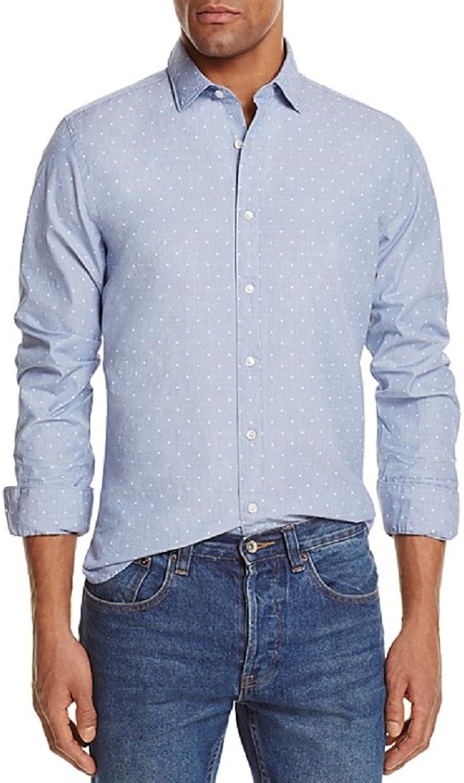 86f577082e8e4a Bloomingdale's Bloomingdale's Bloomingdale's The Men's Store Dot Print Men's  Long Sleeve Button Down Shirt 251814