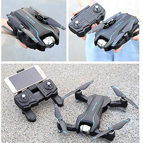 Drone FPV 4K con videocamera HD grandangolare Video in Diretta, Drone con Telecamera,Pieghevole Drone con WiFi App Mobile Controllo Grandangolare,Quadricottero Altitude Hold, Facile per Principianti