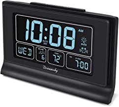 DreamSky Auto Set Digital Alarm Clock with USB Charging Port, 6.6 Inch Large Screen with..