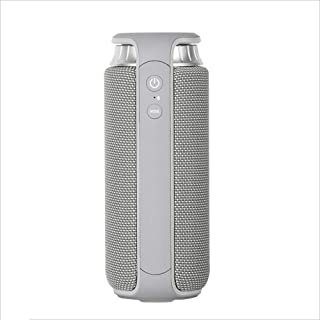 IhDFR Wireless Bluetooth Speaker Outdoor Portable Small Sound Home Subwoofer Home Multifunction Portable Waterproof (Color : Gray)