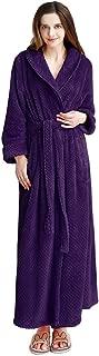 Womens Long Robe Soft Fleece Fluffy Plush Bathrobe Ladies Winter Warm Sleepwear Pajamas Top Housecoat Nightgown
