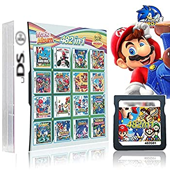 482 in 1 Game Cartridge  DS Game Pack Card Compilations With Mario & Sonic Series Super Combo Multicart for DS NDSL NDSi NDSiLL/XL 3DS 3DSLL/XL New 3DS LL/XL 2DS New 2DS LL/XL