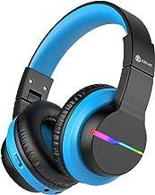iClever BTH12 Kids Headphones, Colorful LED Lights Kids...