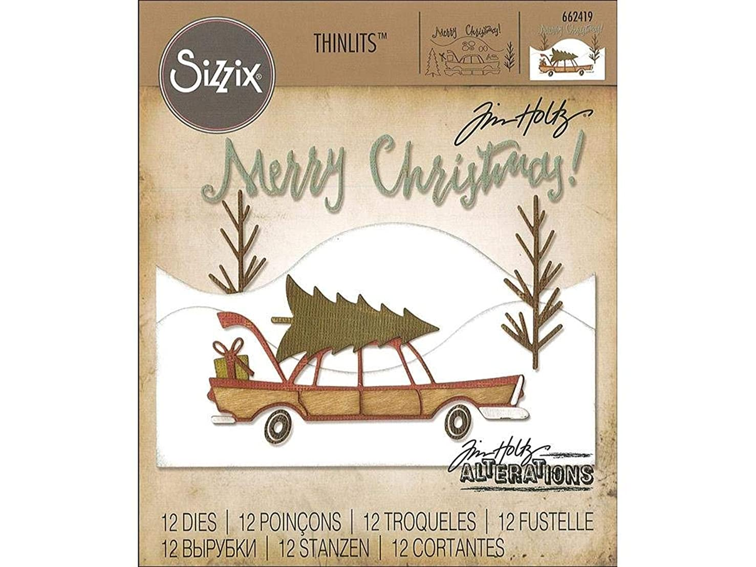 Sizzix THoltz Home for The Holidays TH Thinlits Die HomeHolidays