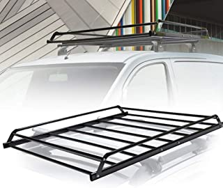 Universal Rooftop Cargo Basket Heavy Duty Cargo Roof Carrier Rack Ideal for SUV,Truck,Car, Roof Top Luggage Carrier for Hauling Luggage. SIZE: L48.4
