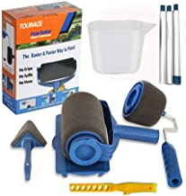 TOURACE 9Pcs/Set Paint Roller Set with Sticks Paint Roller Pro Transform Your Room in Just Minutes Quickly Decorate Runner...