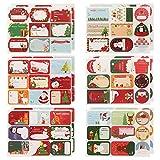 AUXSOUL 36 Hojas / 324 Piezas de Pegatina de Navidad Etiquetas Navideñas Adhesivas Etiquetas...