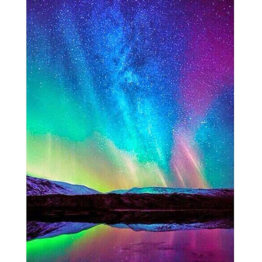 Blueseao 5D Embroidery Paintings Rhinestone Pasted DIY Colored Sky Diamond Painting Cross Arts Stitch for Home Wall Decor