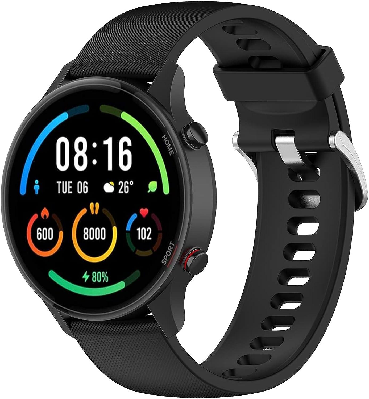 TopTen Correa de reloj compatible con Xiaomi Mi Watch Color/Mi Watch Sport/Haylou RT LS05S Correa, Silicona Sport Pulsera Accesorios de Reemplazo Pulsera Ajustable
