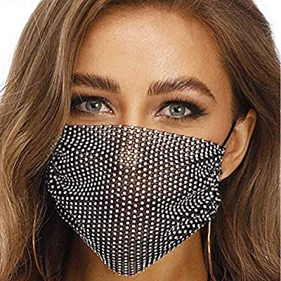Amazon - Save 50%: Sparkly Rhinestone Mesh Mask Party Nightclub Face Mask for Women Girls