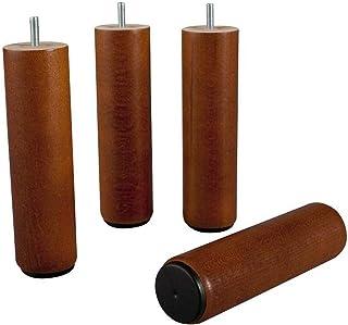 de 30/cm Wood Select Juego de 4/patas de mueble diferentes tipos de fijaci/ón color natural