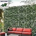 "Windscreen4less Artificial Faux Ivy Leaf Decorative Fence Screen 58"" x 138"" Ivy Leaf Decorative Fence Screen"