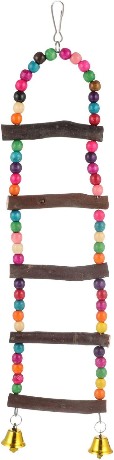 Balacoo Wood Ladder Low price with Bells Parrot Toy Parr Bird Omaha Mall Climbing for