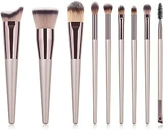 Makeup brushe set kit 9 pcs professional champagne | Eyeshadow concealer eyeliner for face and eyes makeup PRO blending cosmetic tools