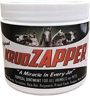 KrudZAPPER Topical Ointment for Animals and Pets. All-Natural Healing Aid for Wounds, Skin, Ears, Hooves and Paws. Protects, Disinfects, Promotes Healing. Safe for All Animals. (16 Ounce)
