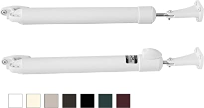 Touch 'n Hold Smooth - Dual Kit - Heavy Duty Door Closer System - for (Medium and Heavy Weight) Storm, Screen, Security Doors - New Doors or Replacement for Previous Units (White)